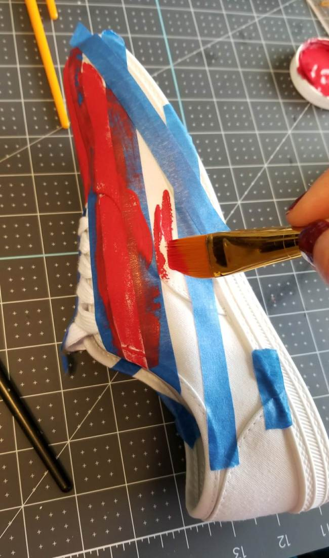 painting shoes canvas
