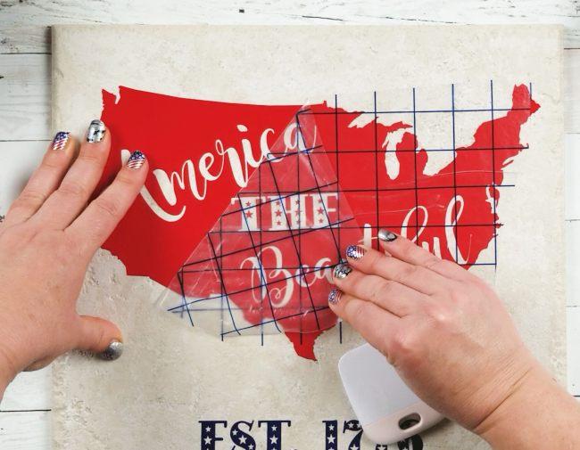 patriotic decor diy tile with america the beautiful svg file