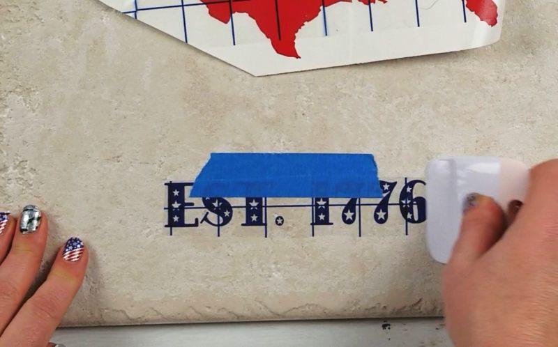 patriotic home decor diy vinyl tile