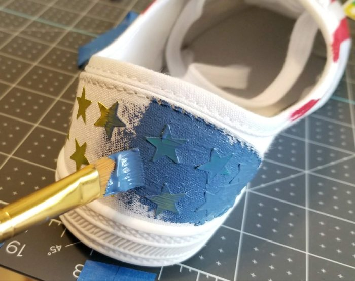 4th of july shoes diy