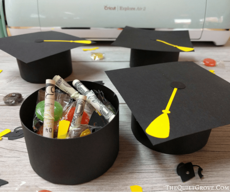 DIY Graduation Cap Gift Boxes