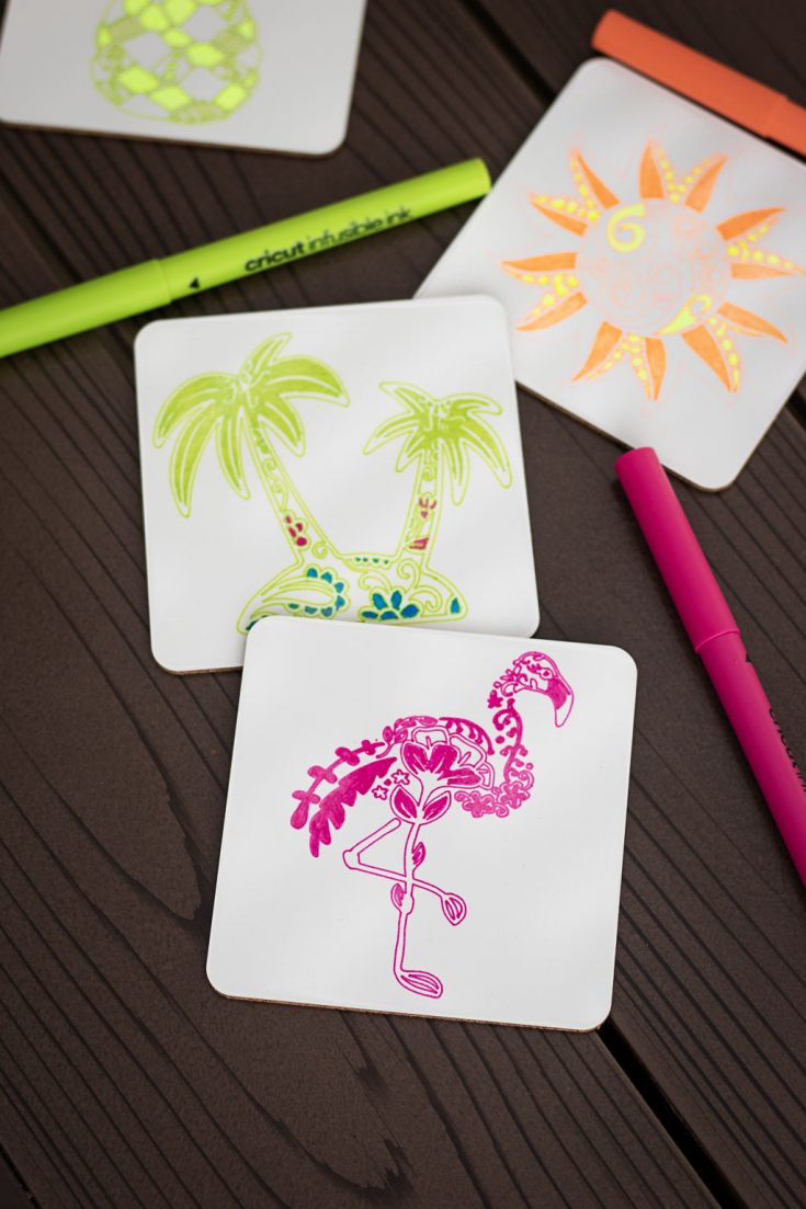How to Use Cricut Infusible Ink to Make Cool Coasters & Summer Beach Bags!