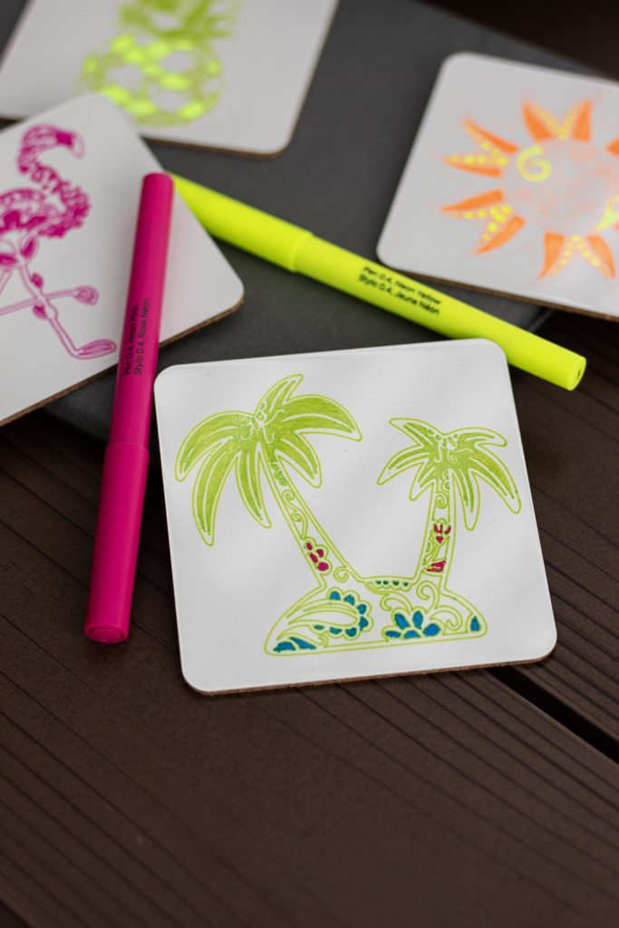 cricut coasters infusible ink