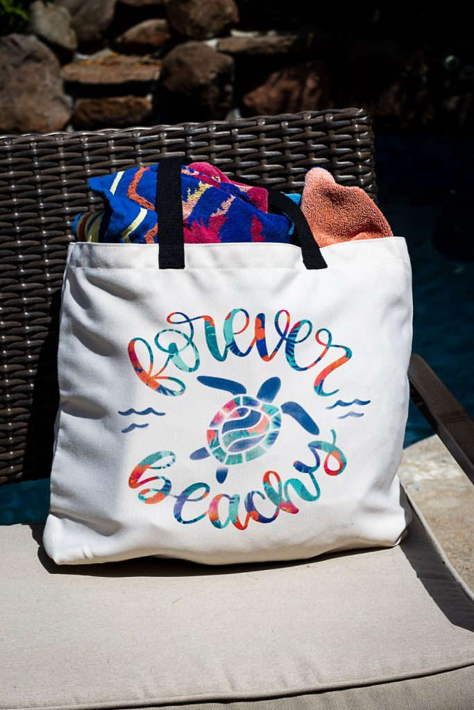 diy beach bag using cricut infusible ink