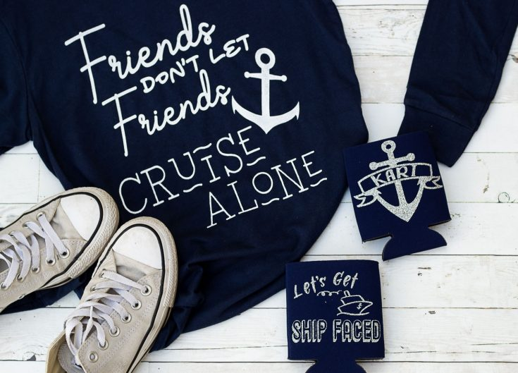 DIY Personalized Koozies & Cruise Shirts with 2 FREE SVG Files!