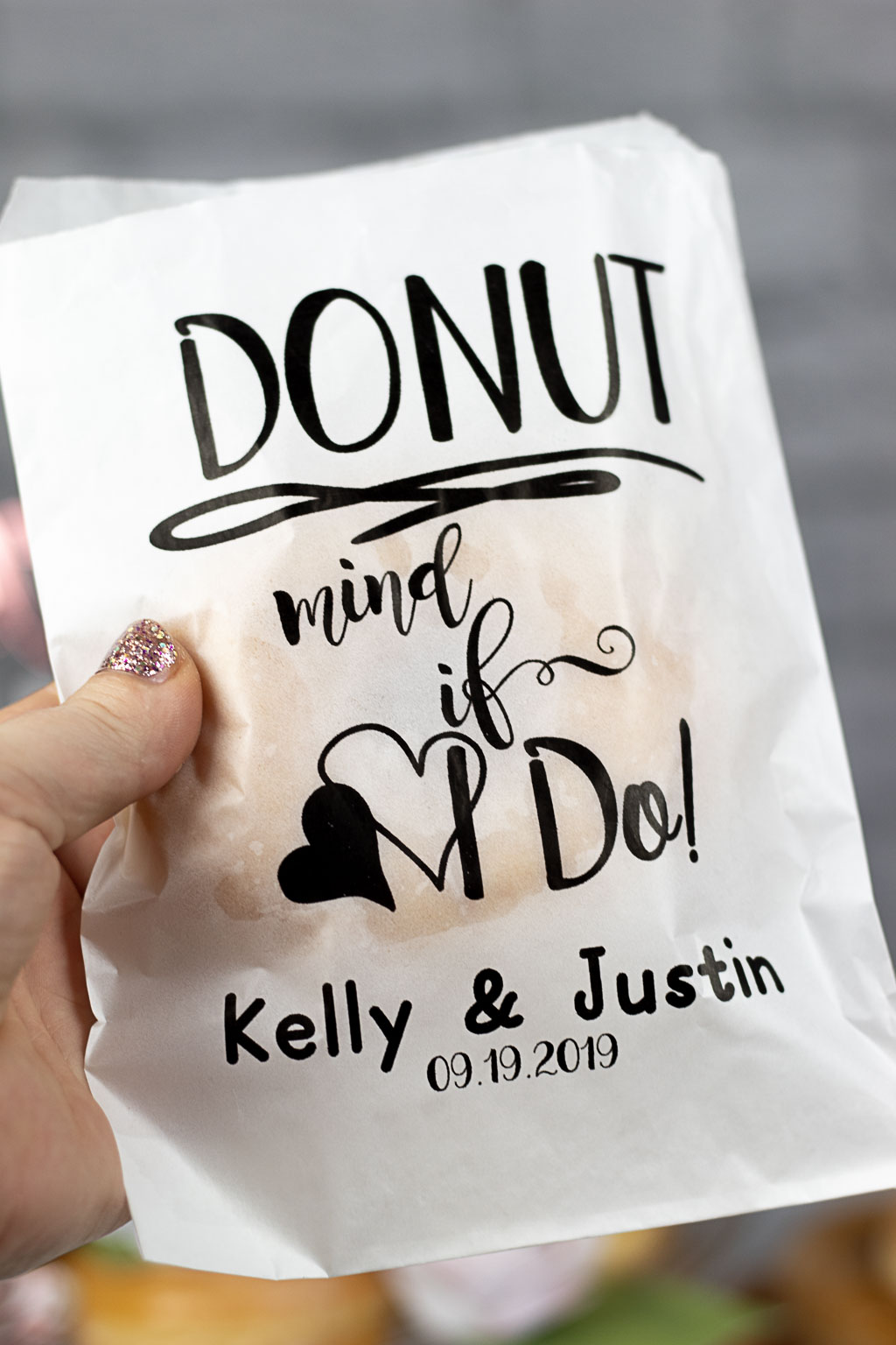donut wedding diy