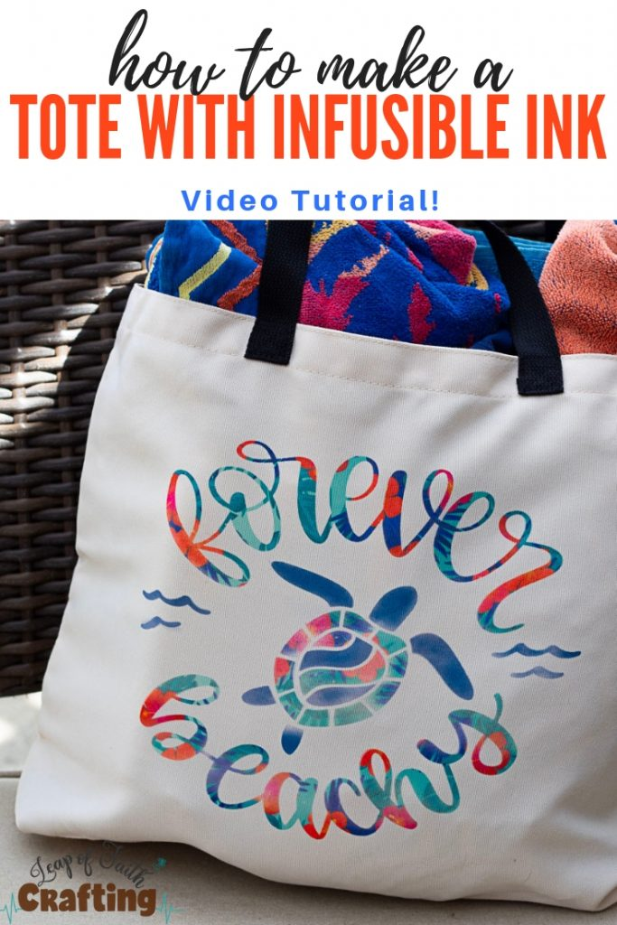 summer beach bags with cricut infusible ink