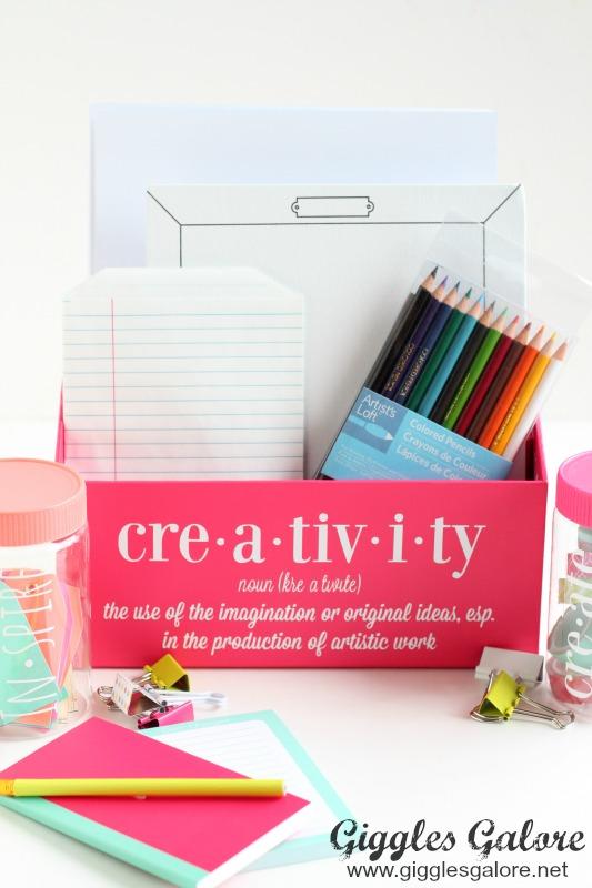 Colorful Craft Room Organization