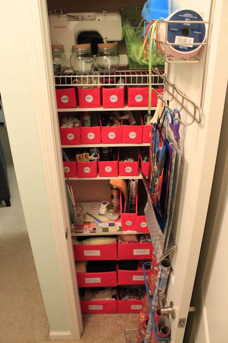 Organizing the Craft Closet