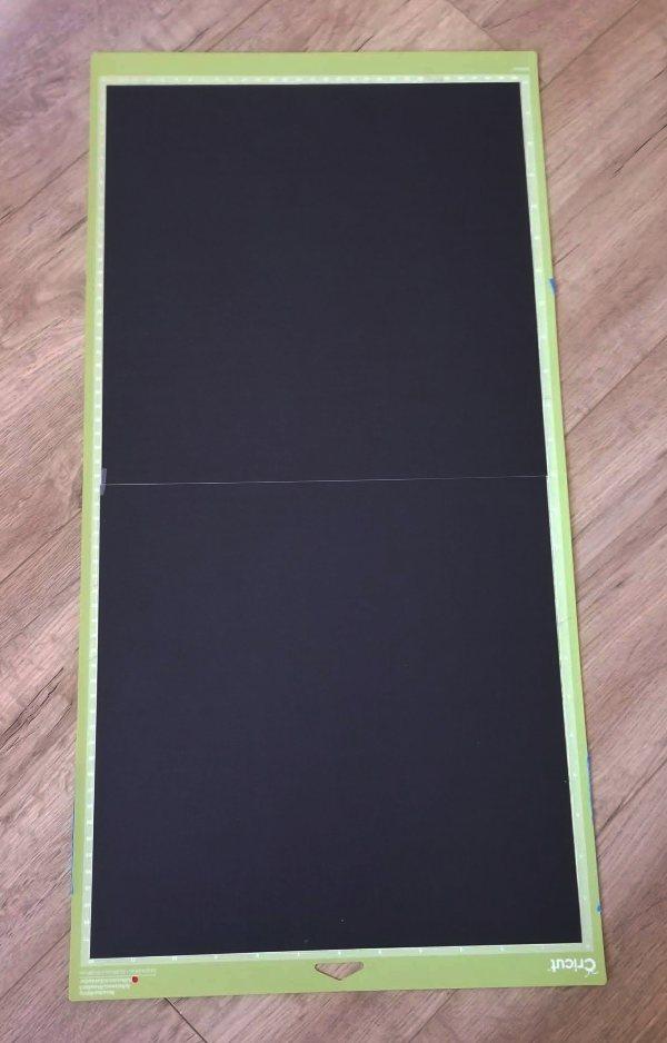 cardstock on cricut mat
