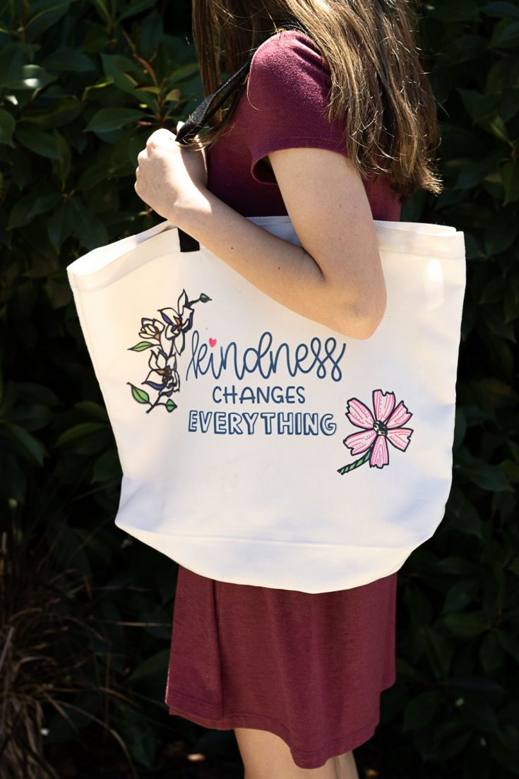 Cricut Gifts:  Special Kid's Artwork on Tote Bag