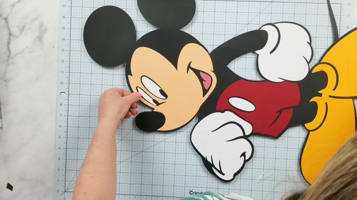 making life size mickey mouse stand up