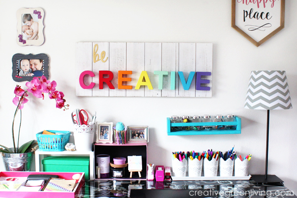 Craft Room / Home Office Tour & Makeover Reveal