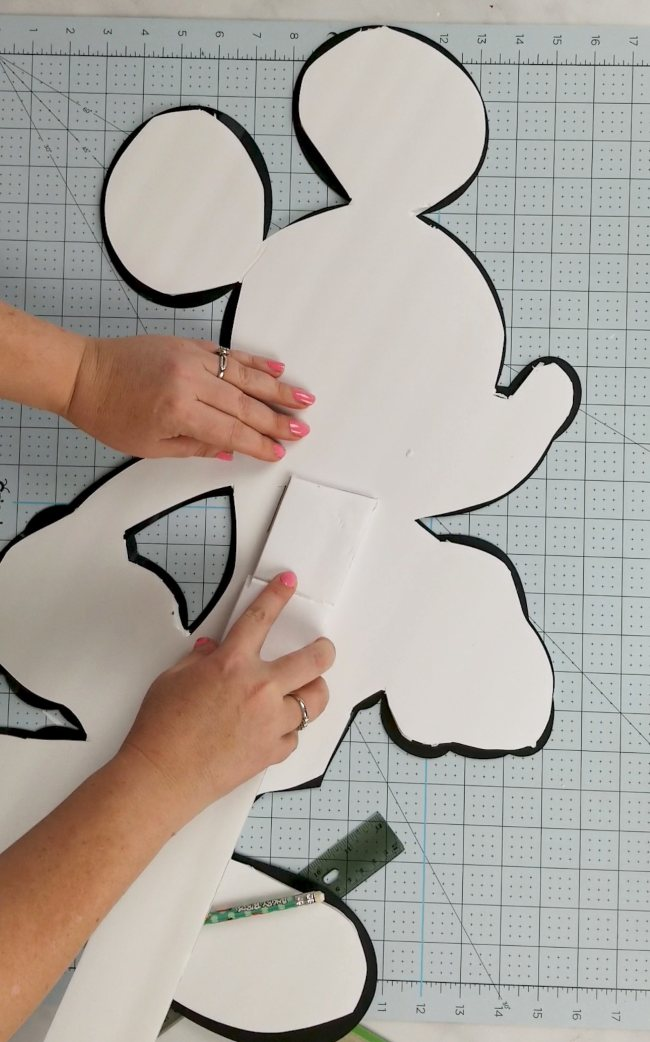 how to make large cut out stand up with foam board