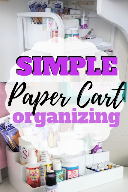 Get Organized with Totally Tiffany Paper Cart and Die, Stamp and Supply Organizer