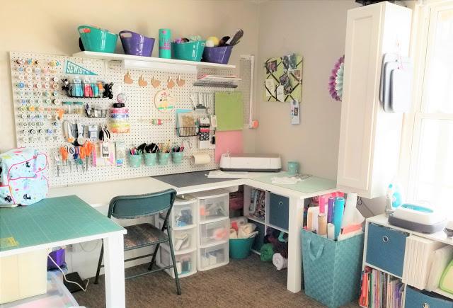 Simple Sewing Room Organization