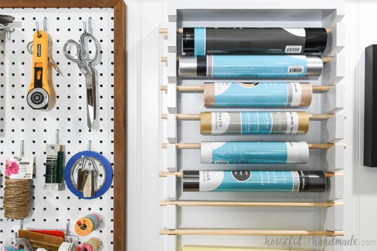 Vinyl Roll Storage Rack
