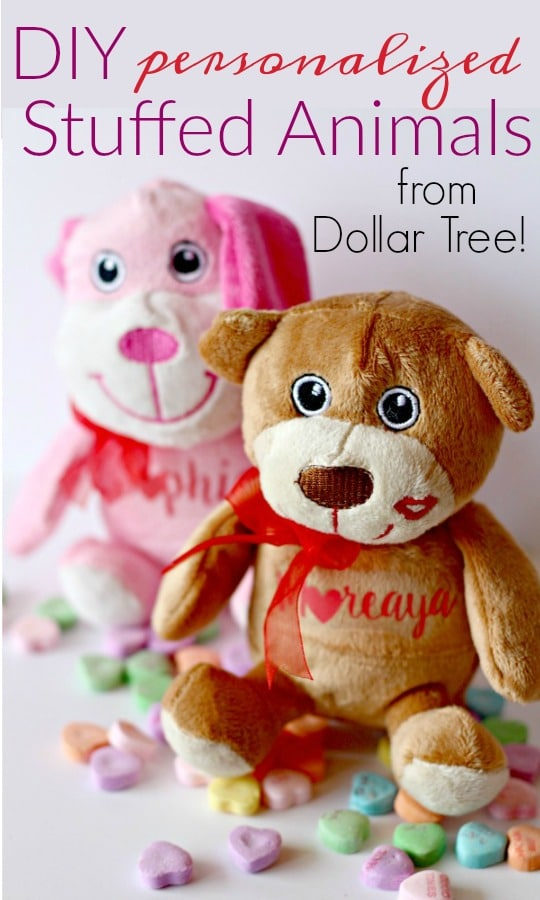 DIY Personalized Stuffed Animals from Cheap Stuffed Animals for $1!