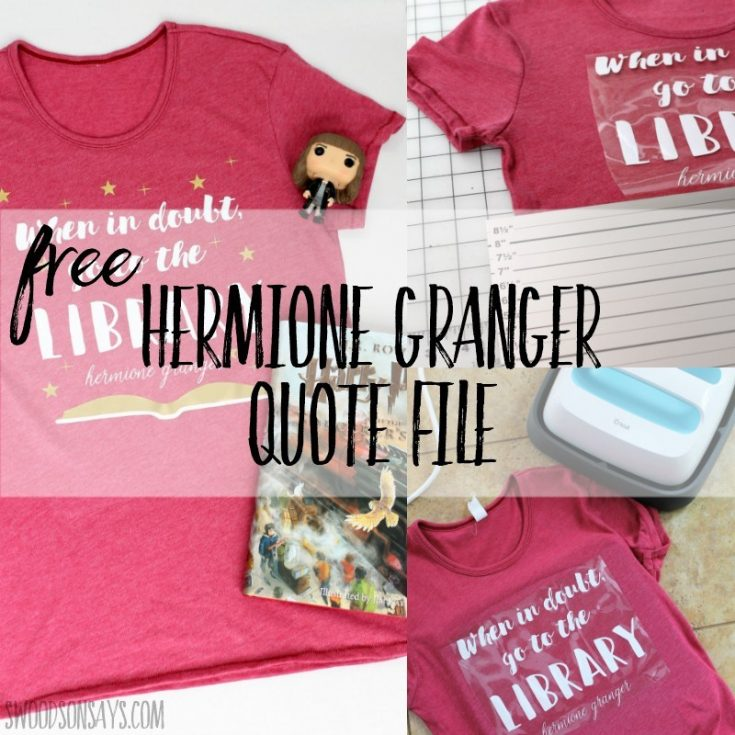 Harry potter svg – free Hermione Granger quote file