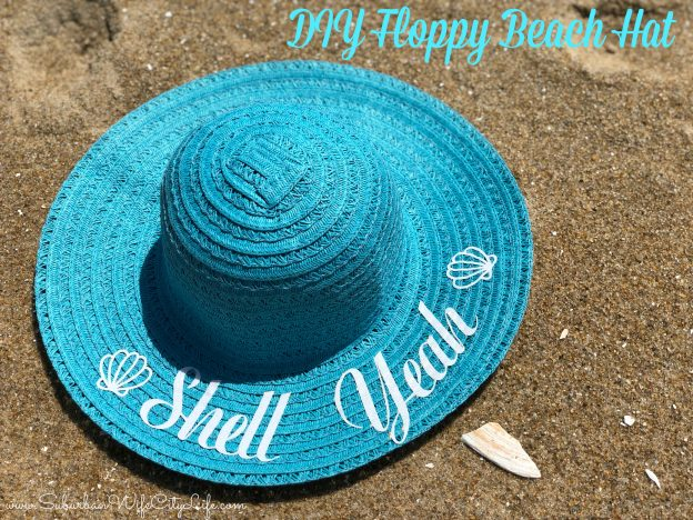 DIY Beach Hats - Suburban Wife, City Life