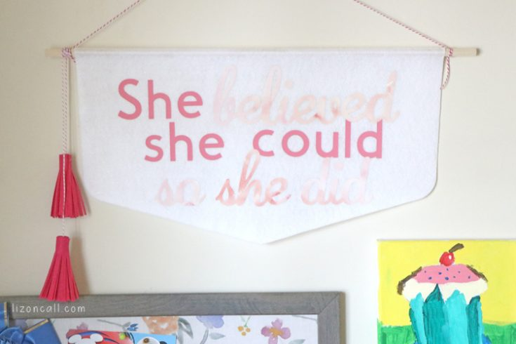 No Sew Felt Banner Wall Hanging with Cricut EasyPress 2