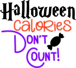 halloween calories dont