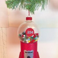 DIY Vintage Gumball Machine Ornament