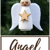 DIY Wooden Angel Christmas Ornaments
