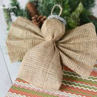 Easy Burlap Angel Ornament