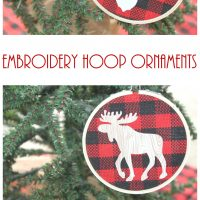 Buffalo Plaid Embroidery Hoop Ornaments • Keeping it Simple