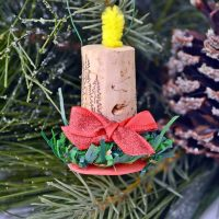 DIY Wine Cork Candle Christmas Ornaments