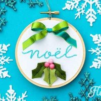 Christmas Embroidery Designs - Noel Hoop Ornament DIY