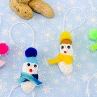 Peanut Snowman Christmas Ornaments
