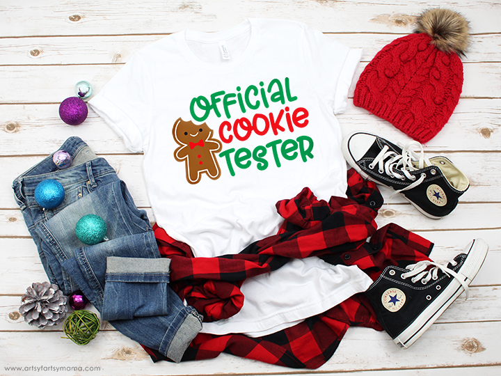 Official Cookie Tester Shirt with Free Cut File