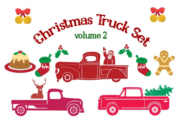 Christmas Truck Kit Volume 2 - Create Your Own Truck Freebie SVG Cut file by Creative Fabrica Freebies