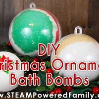 Kid Made Christmas Ornament Bath Bombs with Christmas Science Lesson