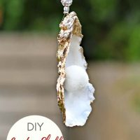 Quick Tutorial To Make A Glamorous Oyster Shell Ornament