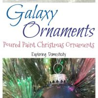 DIY Galaxy Ornaments: Poured Paint Christmas Ornaments ⋆ Exploring Domesticity
