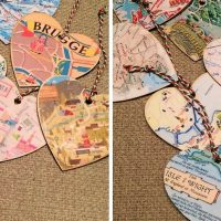 Getting Crafty with Christmas: DIY Map Ornaments