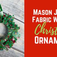 Mason Canning Jar Lid Christmas Wreath Ornament Craft