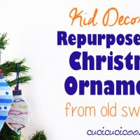DIY felt christmas tree ornaments for kids from repurposed sweaters