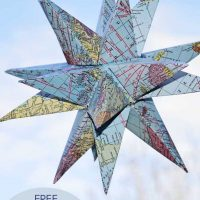 How to Make Gorgeous Free Printable Map Star Decorations