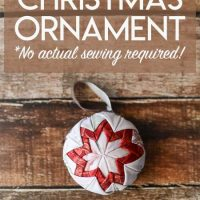 Easy Quilt Christmas Ornament Tutorial (No Actual Sewing or Quilting Required!)