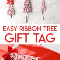Easy DIY Ribbon Christmas Tree Gift Tag or Christmas Ornament Tutorial