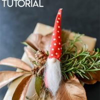 Scandinavian Tomte Christmas Elf Ornament Tutorial