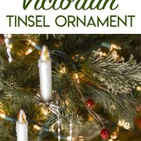 How to Make Victorian Tinsel Christmas Ornaments