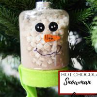 Hot Chocolate Snowman Ornament