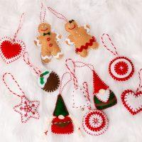 Easy Felt Christmas Ornaments, Nordic Style Ornaments, Gnomes