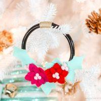 Mini Felt Wreath Ornament tutorial