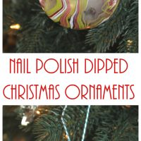 Nail Polish Dipped Christmas Ornaments • Keeping it Simple